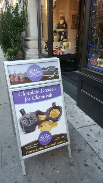 Chocolate Dreidels on Bleecker Street