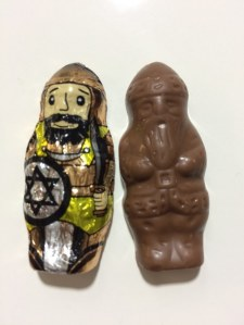 Maccabee-Santa chocolate